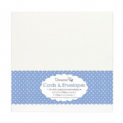 "Dovecraft White Card Blanks and Envelopes 6"" x 6"" Pk 10"
